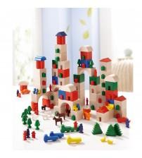 Set de blocuri din lemn, Haba, Little Amsterdam, 166 piese, 3ani+