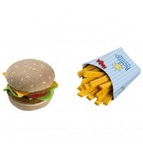 Jucarie din plus, hamburger si cartofi prajiti, Haba, 3ani+