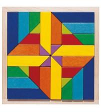 Joc de indemanare si puzzle, Haba, Geomix, 3ani+