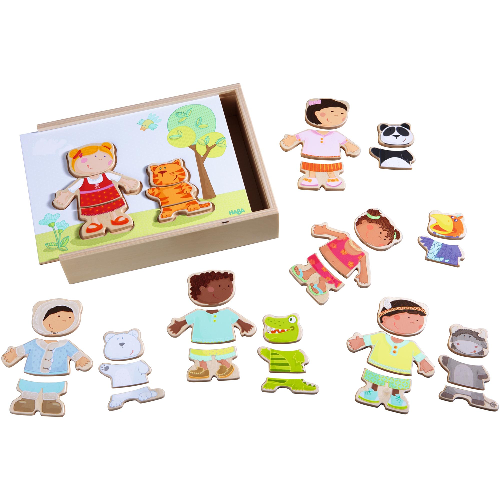 Puzzle din lemn, Haba, Copiii lumii, 36 piese, 18luni+
