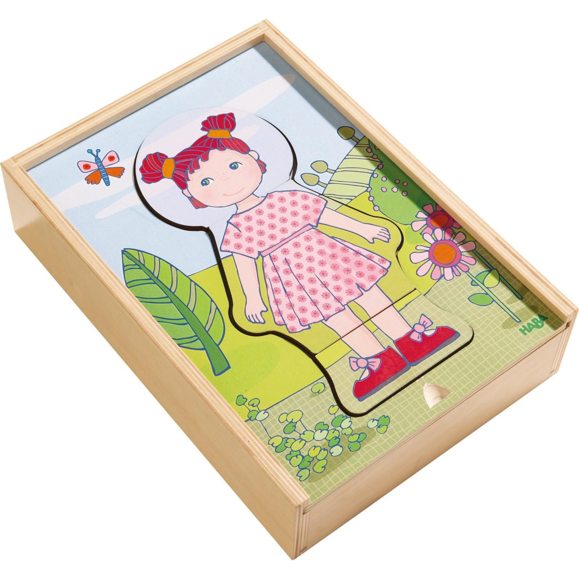 Puzzle din lemn, Haba, Hainele preferate ale lui Lilli, 18luni+