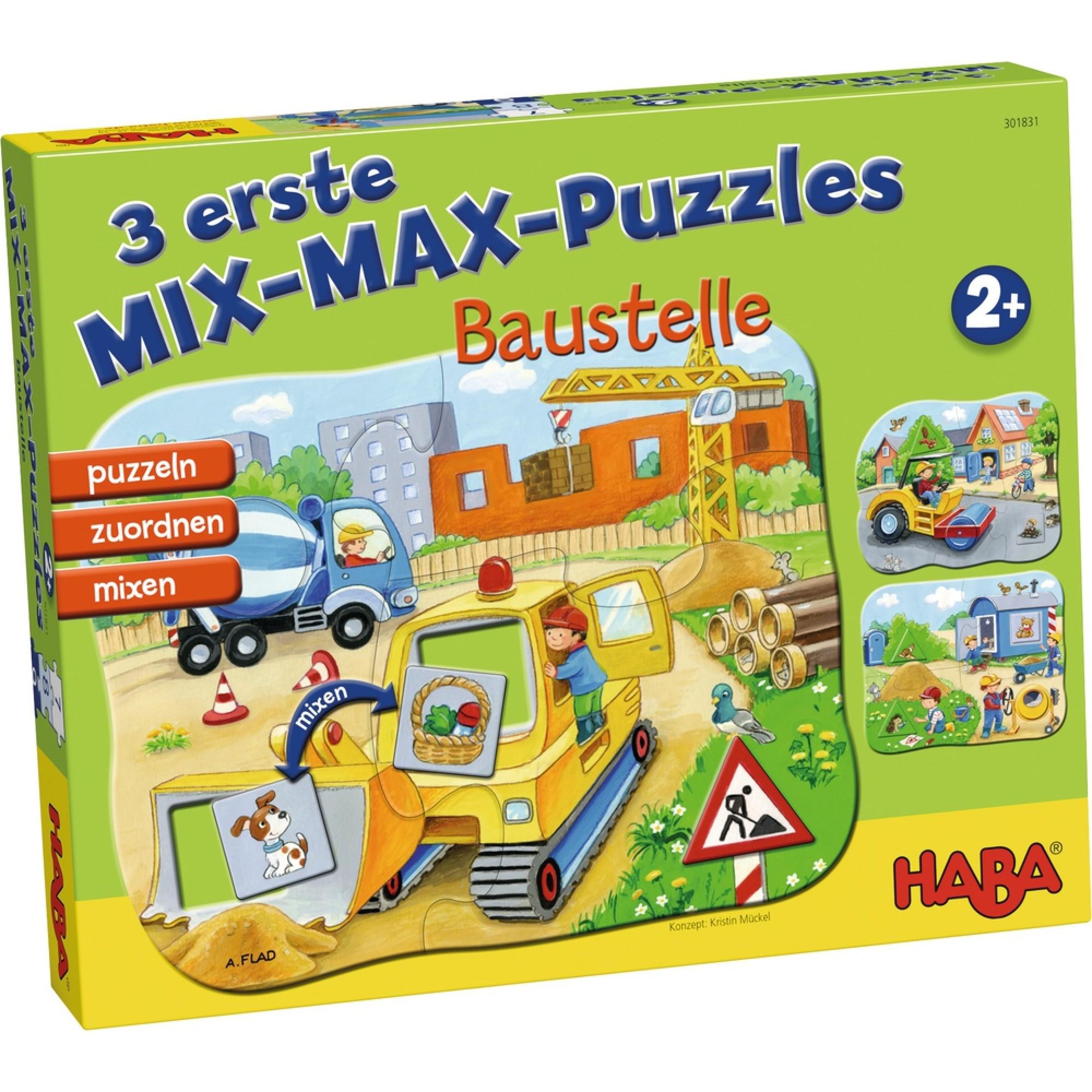 Puzzle mix, Haba, Santierul, 2ani+