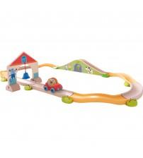 Masinute de jucarie cu sine si accesorii, Haba, Bridge Rally, 2-8 ani