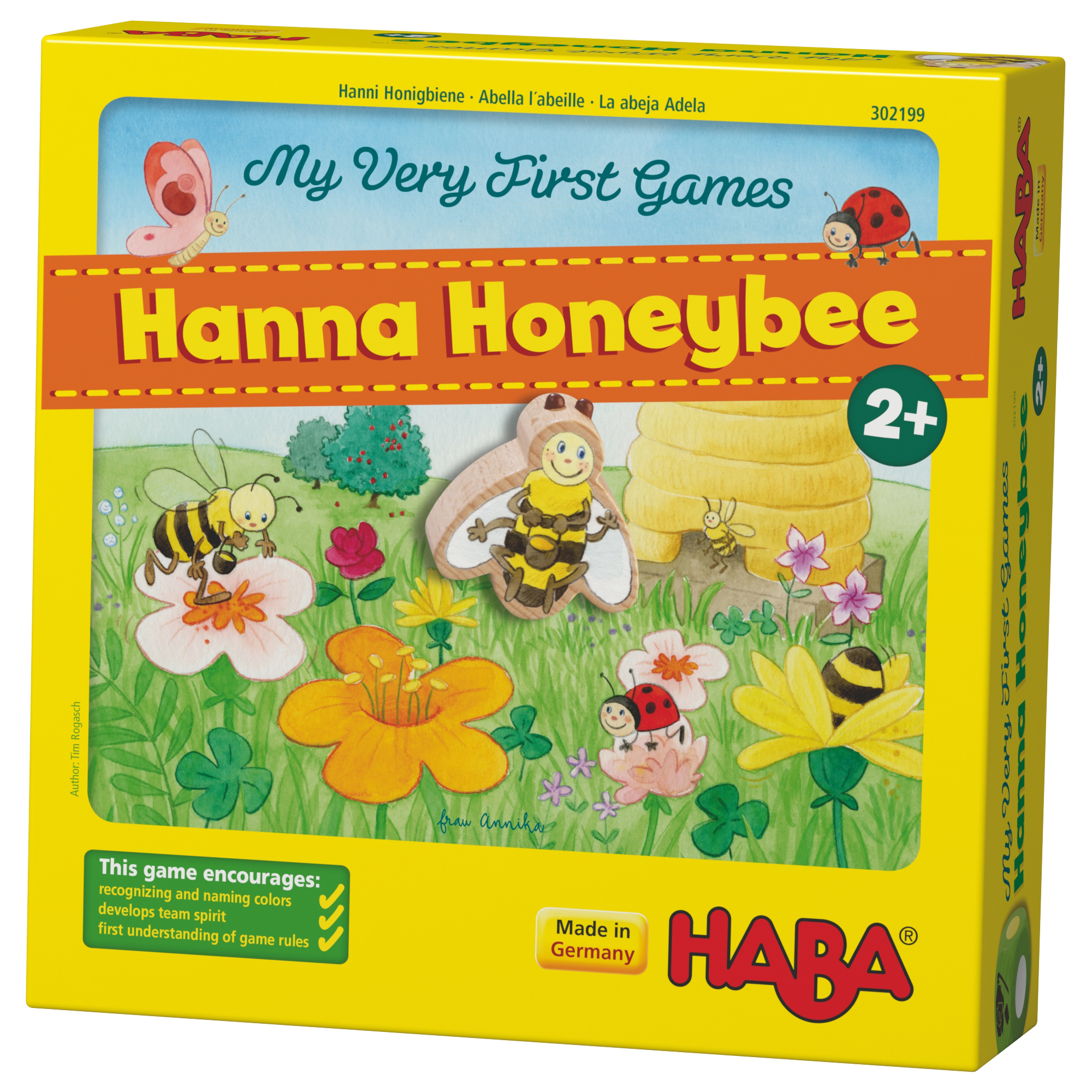 Joc distractiv cu zaruri, Haba, Primul meu joc - Albinuta Hanni, 2ani+