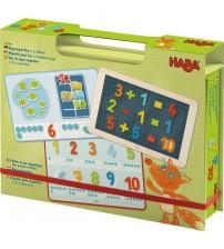 Cutie cu jocuri magnetice, Haba, Noi si numerele, 3ani+