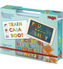 Cutie cu jocuri magnetice, Haba, Expeditia alfabetului, 3ani+