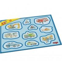 Primul meu puzzle cu rama, Haba, Vehicule, 2ani+