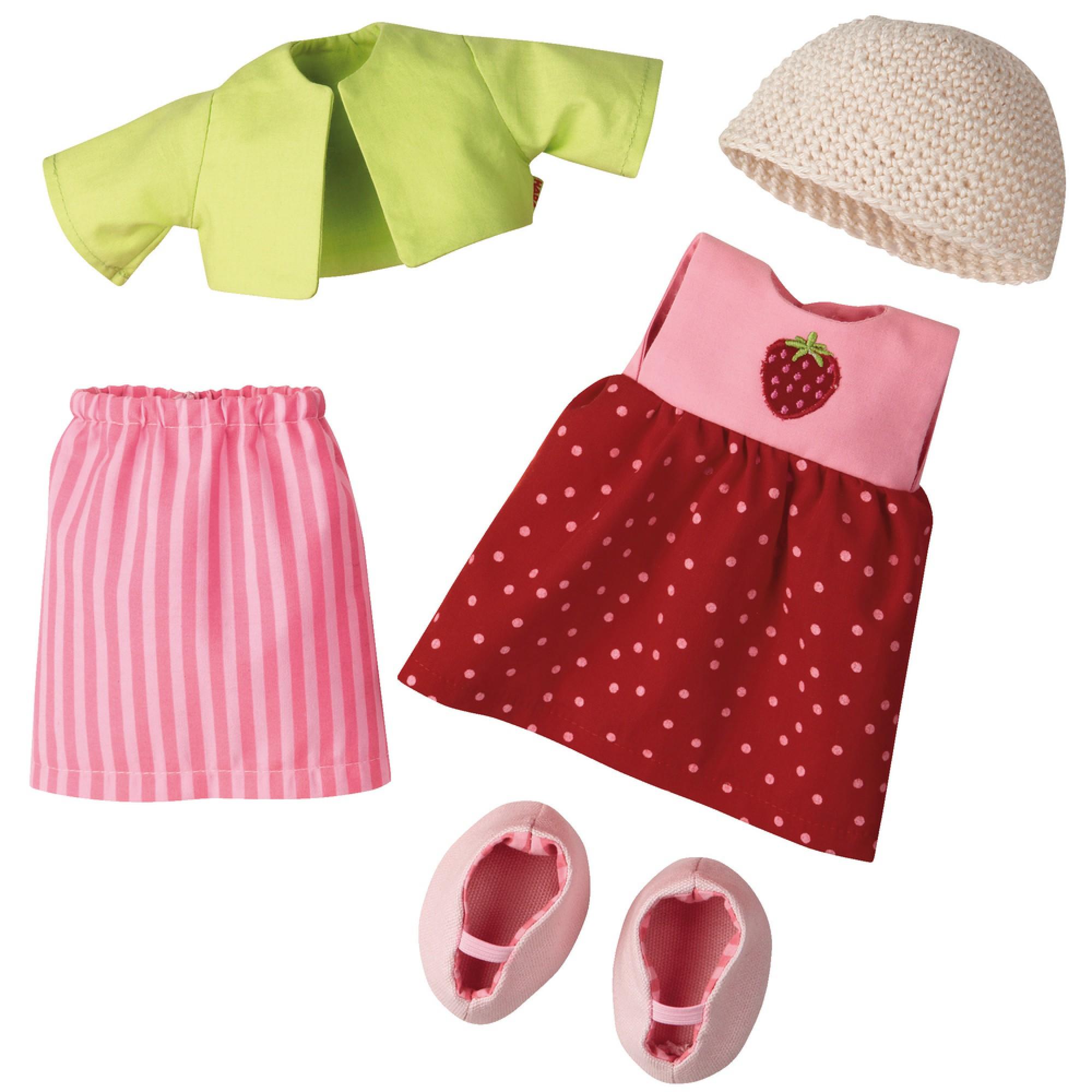 Set de haine pentru papusi, Haba, Strawberry, 18luni+