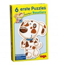 Puzzle cu animale, Haba, 6buc, 2ani+