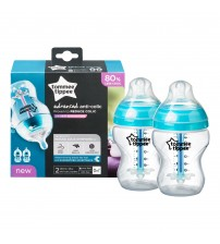 Biberon Advanced Anti-colic cu Sistem de Ventilatie, Tommee Tippee, 260ml, 2 buc