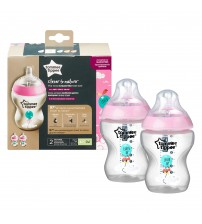 Set biberoane decorate Tommee Tippee, 260 ml, 2 buc, fete