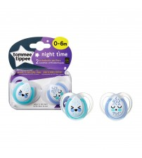 Set Suzete Ortodontice de Noapte, Tommee Tippee, 0 - 6 Luni, 2 buc