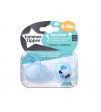 Set Suzete Ortodontice Anytime, Tommee Tippee, 6-18 Luni, 2 buc