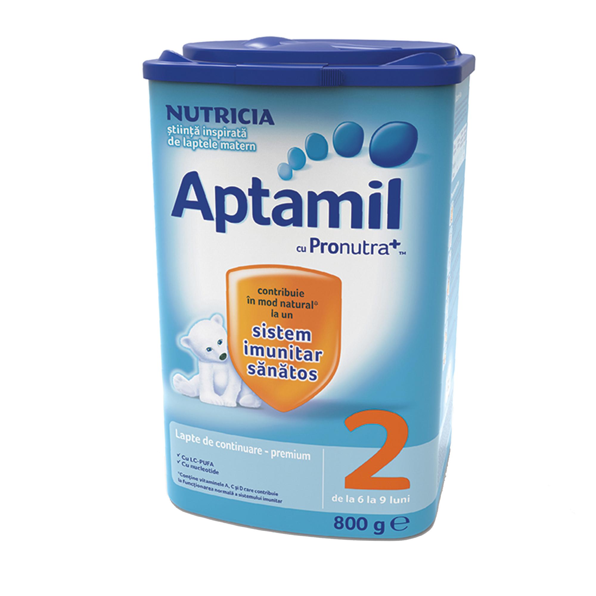 Lapte praf Nutricia, Aptamil 2, 800g, 6-9 luni