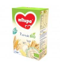 Cereale BIO fara lapte Milupa, 7 Cereale, 250g, 6luni+