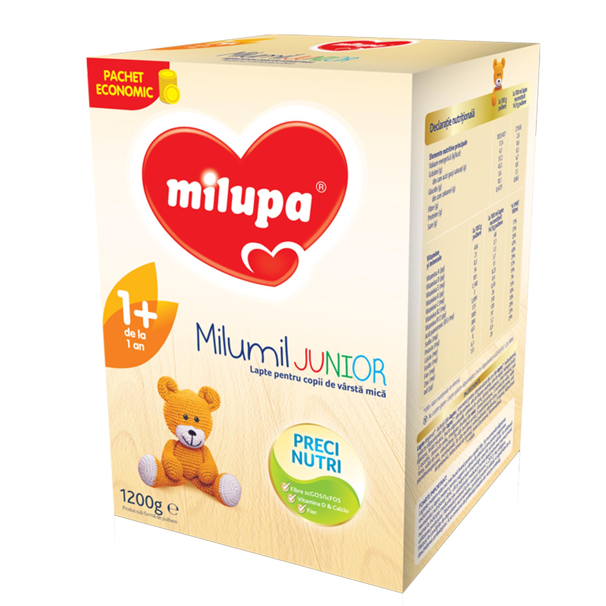 Lapte praf Milupa Milumil Junior 1+, 1200g, 12luni+