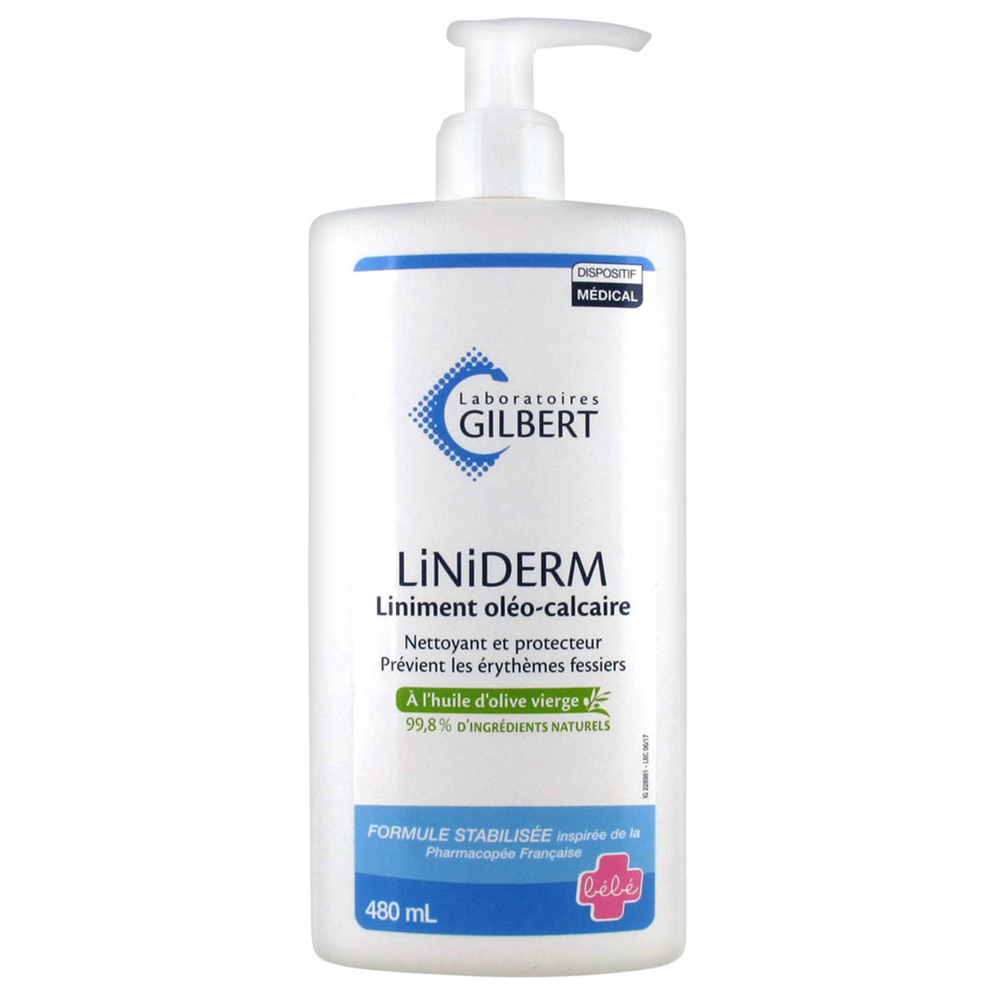 Crema scutec, Liniderm, Gilbert Laboratoires, 480 ml, cu pompita