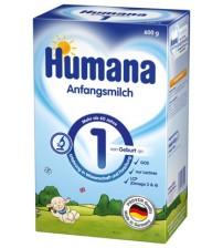 Lapte praf Humana 1 GOS, 600 g, de la nastere