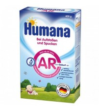 Lapte praf anti-regurgitare, Humana AR, 400 g, 0 luni+
