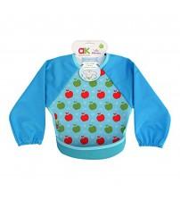 Baveta cu maneci Ultrabib, Annabel Karmel, Blue apples, 1 buc, 6 luni+