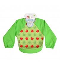 Baveta cu maneci Ultrabib, Annabel Karmel, Green apples, 1 buc, 6 luni+