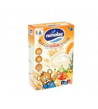 Cereale pentru copii cu grau, lapte si 5 fructe, Ninolac, 6 luni+, 200g