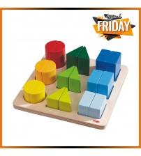 Jucarie din lemn de potrivire a formelor, Haba, Color Charm, 19 piese, 2ani+