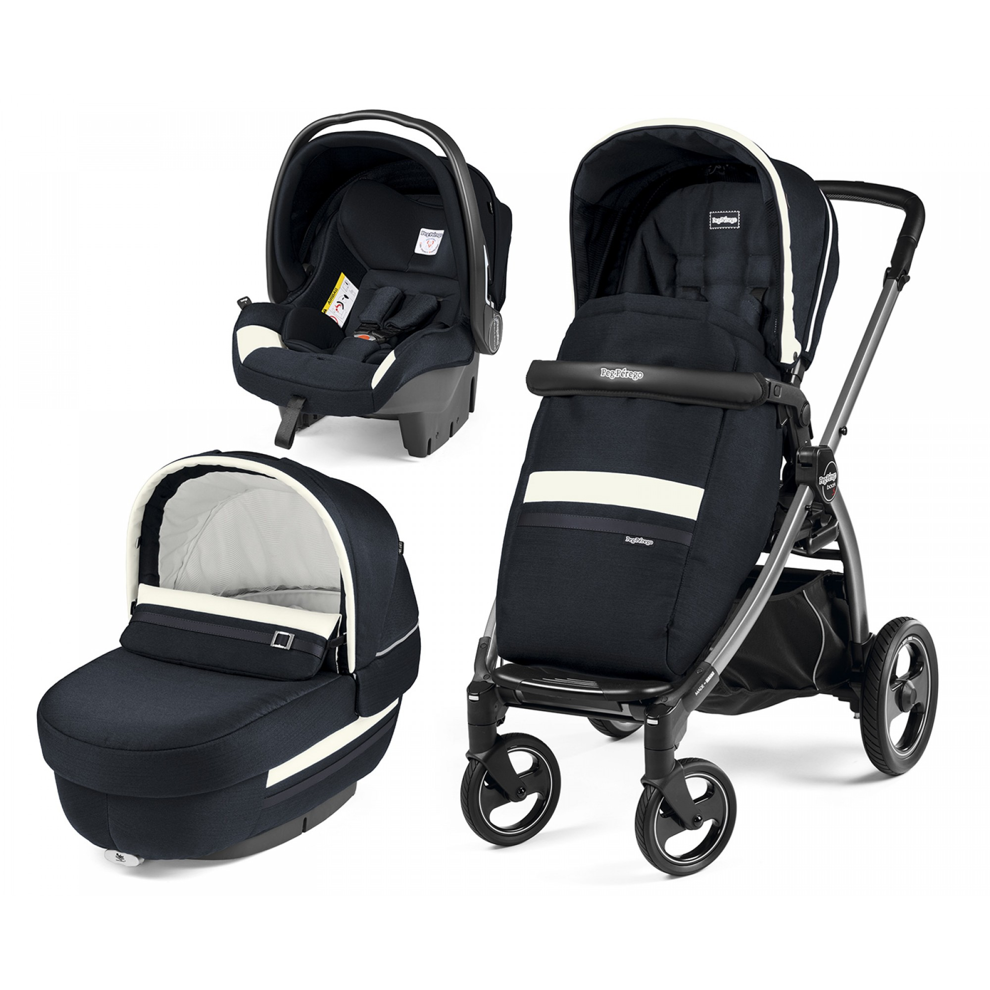 Carucior 3 In 1, Peg Perego, Book Plus S, Titania, Luxe