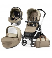Carucior 3 in 1, Peg Perego, Book Plus 51 S Black&White Class