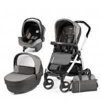 Carucior 3 in 1, Peg Perego, Book Plus S Black&White Class