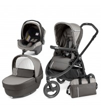Carucior 3 in 1, Peg Perego, Book Scout Matt Black Class