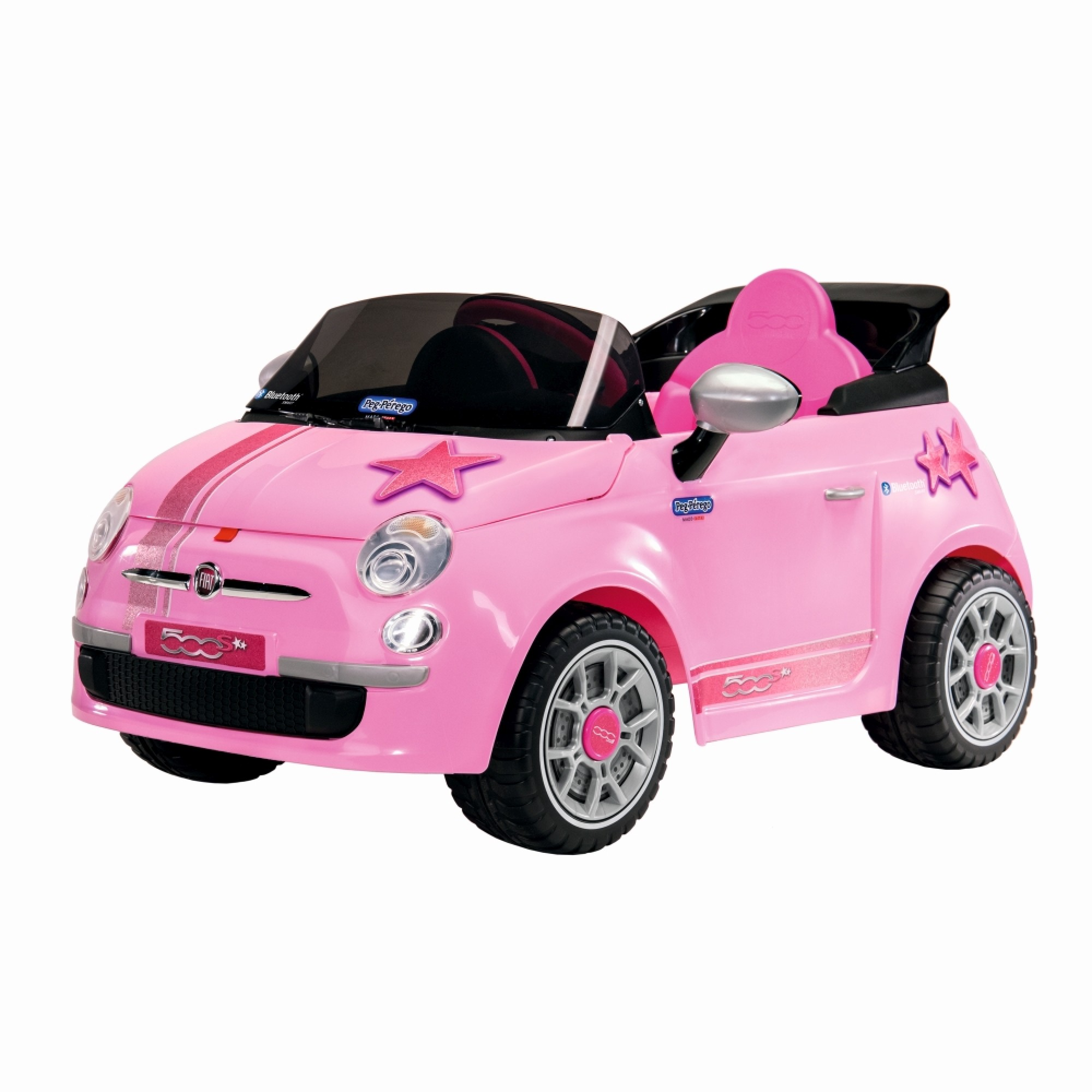 Masina, Fiat 500 Star, Peg Perego, Telecomanda, Pink