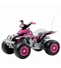ATV, Corral T-Rex, Peg Perego, Pink