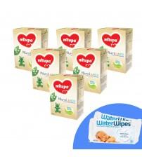 Pachet 6 x Lapte praf Milupa Milumil Junior 2+, 600g, 2ani+ si 2 x Servetele umede pentru bebelusi, WaterWipes, 60 buc