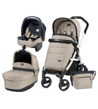 Carucior 3 in 1, Peg Perego, Book Plus 51 S, Black&White, Pop-Up Elite