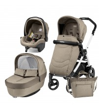 Carucior 3 in 1, Peg Perego, Book Plus 51 S, Black&White, Team