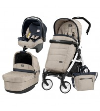 Carucior 3 In 1, Peg Perego, Book Plus 51, Black&White, POP-UP Elite