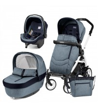 Carucior 3 In 1, Peg Perego, Book Plus 51, Black&White, Team, Horizon-produs resigilat