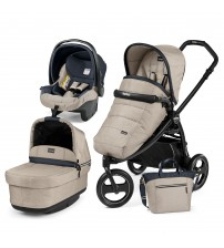 Carucior 3 in 1, Peg Perego, Book Scout, Matt Black, Pop-Up Elite