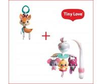 Pachet Jucarie zornaitoare Into the Forest, Florence + Carusel muzical portabil Tiny Princess Tales, Ia-ma cu tine, Tiny Love