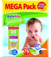 Scutece Babylino Sensitive Megapack Maxi N4+ 76 buc