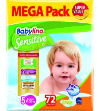 Scutece Babylino Sensitive Megapack Junior N5 72 buc