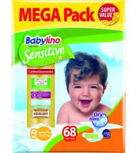 Scutece Babylino Sensitive Megapack Junior Plus N5+ 68 buc