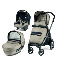 Carucior 3 in 1, Peg Perego, Book Plus 51 Titania Luxe Ecru