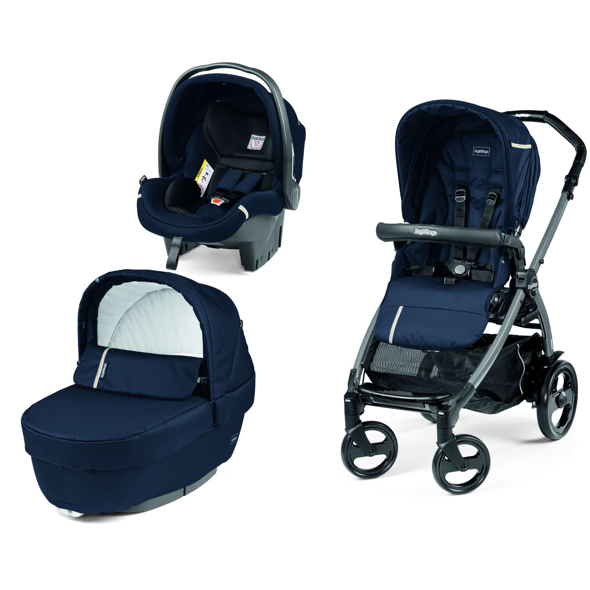 Carucior 3 in 1, Peg Perego, Book Plus 51 Titania Class Navy