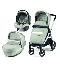 Carucior 3 In 1, Peg Perego, Book Plus 51 S, Titania White, Luxe Pure