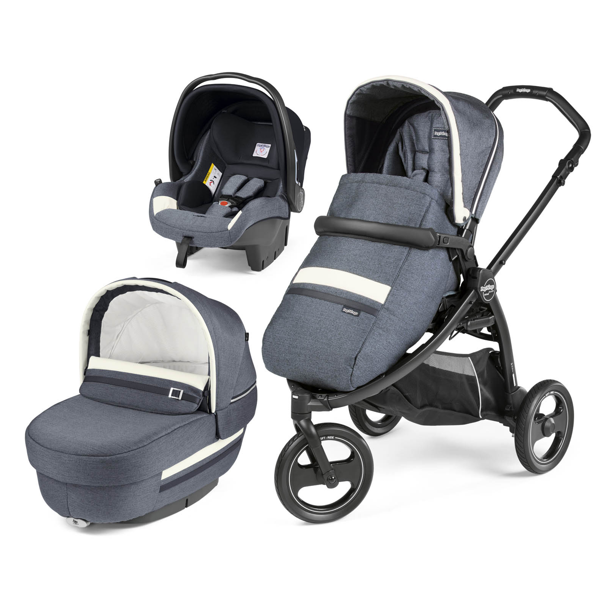 Carucior 3 in 1 Peg Perego Book Scout Matt Black Luxe Mirage