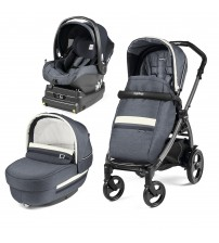 Carucior 3 in 1, Peg Perego, Book Plus 51 Titania, baza i-Size inclusa, Luxe Mirage