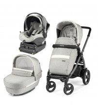 Carucior 3 In 1, Peg Perego, Book Plus 51 S, Titania, baza i-Size inclusa, Luxe Pure