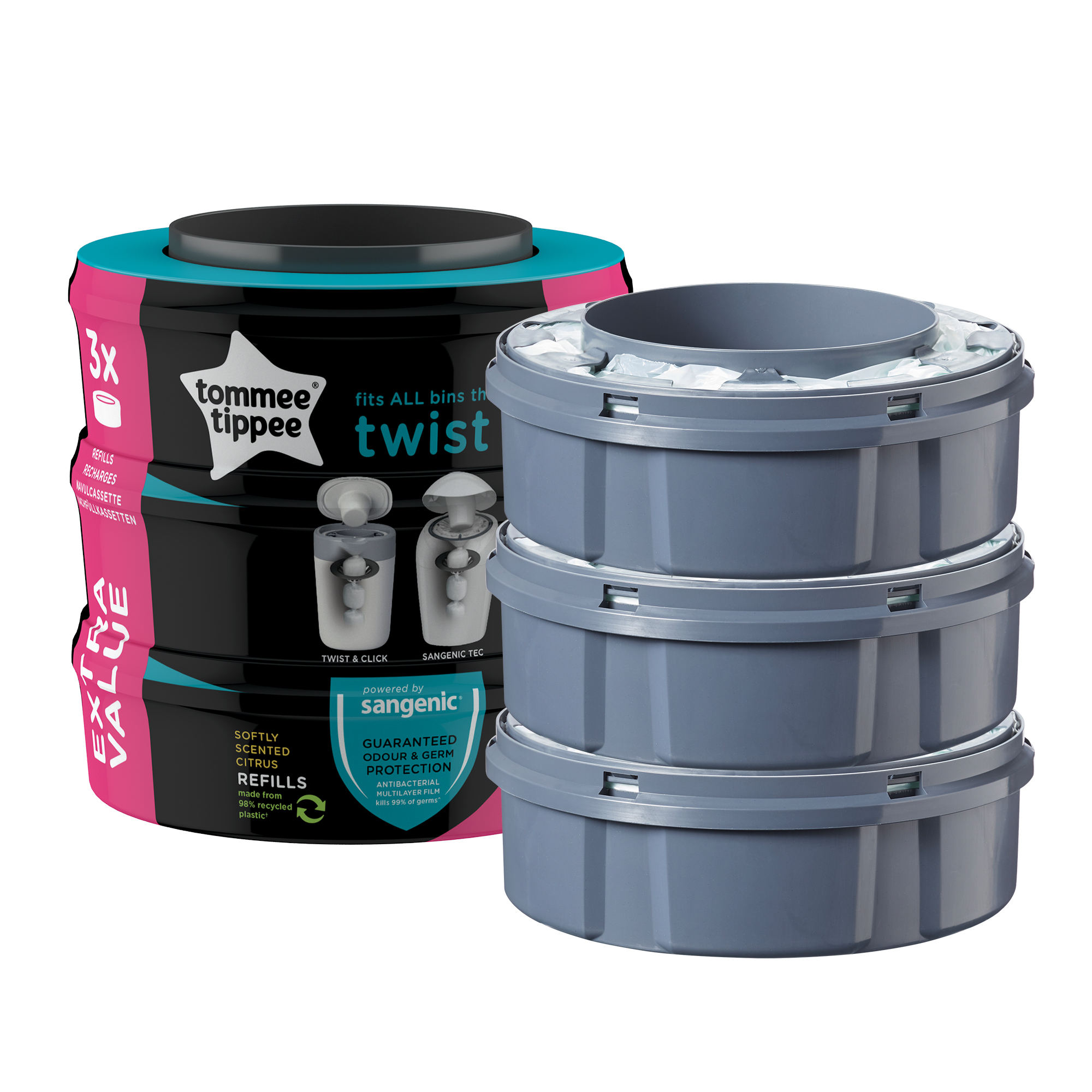 Rezerve Twist and Click, Tommee Tippee, 3 buc